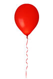 Red balloon. With ribbon isolated on white background Stock Photos