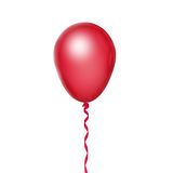 Red balloon. On white background Stock Image
