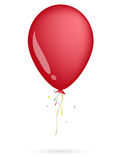 Red balloon. On the white background Royalty Free Stock Image