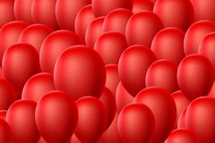 Red Balloon Background. Red Balloon Abstract Background for Party Vector Illustration Stock Illustration