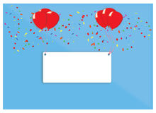 Red balloon. S and blank frame for lets a party Stock Image