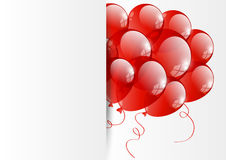 Red balloon banner Royalty Free Stock Photography