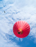 Red balloon in the blue sky Royalty Free Stock Image