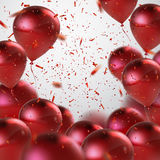 Red Balloon Bunch. Royalty Free Stock Images