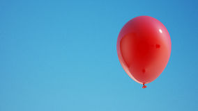 Red Balloon with Clipping Path Royalty Free Stock Images