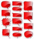Red balloon frames balloon Royalty Free Stock Photo