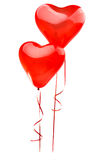 Red balloon heart isolated on white Royalty Free Stock Images