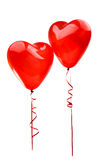Red balloon heart isolated on white Royalty Free Stock Image