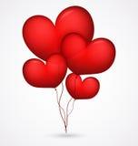 Red balloon heart shape. Illustration of red balloon heart shape Stock Image