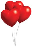 Red Balloon Hearts Stock Photography