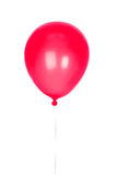 Red Balloon inflated. Isolated on white background Royalty Free Stock Photos