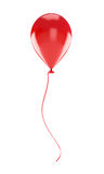 Red balloon. Isolated on a white background Royalty Free Stock Photography