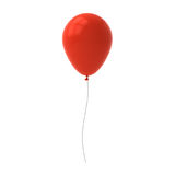 Red balloon isolated on white background with window reflection Stock Photos