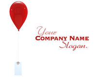 Red balloon and label Royalty Free Stock Photo