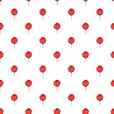Red balloon pattern. Seamless repeat in cartoon style vector illustration Stock Photo