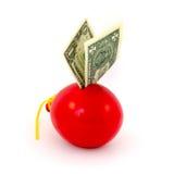 Red balloon piggy Bank Stock Image