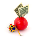 Red balloon piggy Bank Royalty Free Stock Photos
