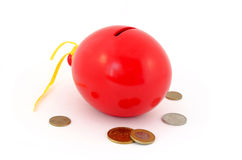 Red balloon piggy Bank Stock Photo