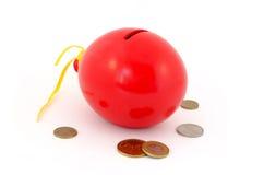 Red balloon piggy Bank Stock Photo