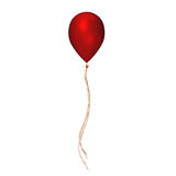 Red balloon with ribbon Stock Image