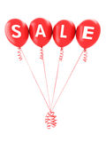 Red balloon's spelling sale. For advertisement of a big sale event or promotion on a white background , color version also available Royalty Free Stock Image