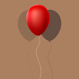 Red Balloon with Shadow Royalty Free Stock Photo