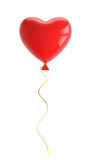 Red balloon in shape of heart, with clipping path Royalty Free Stock Photos