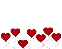 Red balloon in the shape of a heart on Valentine s Day Stock Images