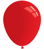 Red balloon. Vector. Red balloon isolated on white. Vector format Stock Images