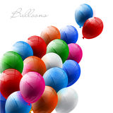 Red balloon. Vector illustration of red balloon in the blue sky Stock Images