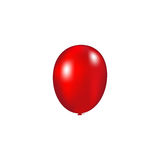 Red balloon vector. Illustration on a white background Stock Photo