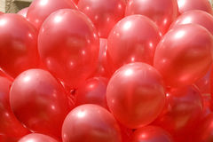 Red balloons Stock Photography