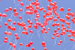 Red balloons Stock Photos