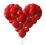 Red Balloons. Heart shape with red balloons Royalty Free Stock Image