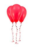 Red Balloons Stock Images