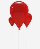 Red balloons vector illustration