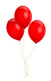 Red balloons. Vector illustration on white background Royalty Free Stock Photo