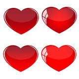 Red balloons. Illustration of heart shaped red balloons vector illustration
