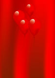 Red Balloons. And Curtain Illustration Royalty Free Stock Images