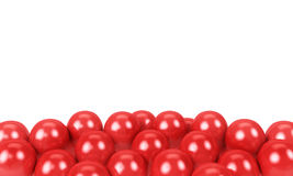 Red balloons as a background with space for text. Isolated on a white background Stock Images
