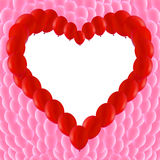 Red balloons. Background made of Red balloons in a heart shape Royalty Free Stock Photography