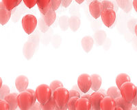 Red balloons backgrounds Stock Photography