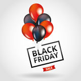 Red Balloons Black Friday sale Stock Images