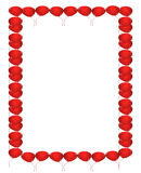 Red balloons border. Illustration of red balloons border vector illustration