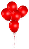 Red Balloons Bunch Stock Image
