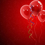 Red balloons Stock Image