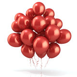 Red balloons crowd Stock Photos