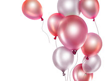 Red balloons. Festive background with red balloons Royalty Free Stock Image