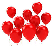 Red balloons. Group of red balloons.  on white background Stock Images