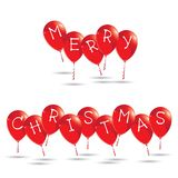 The Red Balloons of Happy New Year isolated White background. Red Balloons royalty free illustration